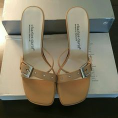 """Charles David Heels(NWB) *Brand new with box *Leather *Beautiful shoes, perfect to pair with a casual outfit *3.5"""" heel, .5"""" platform * Size 6.5B Charles David Shoes Heels"""
