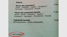 Gefunden bei einem Italiener in Münster Personalized Items, Italian Man, Food Menu, Deutsch, Funny