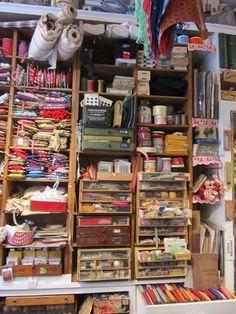 Craft Shop, Craft Stores, Antique Shops, Vintage Shops, Vintage Paris, Mercerie Paris, Haberdashery Shop, Marrakech Travel, Coin Couture
