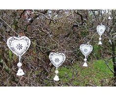 Metal heart garland  #mydecoWedding  This would be cute to decorate a wedding reception, especially pretty for a marquee