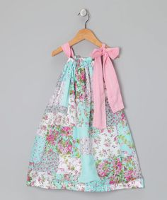 Take a look at this Turquoise Floral Dress - Infant, Toddler & Girls by Oopsy Daisy Baby on #zulily today!