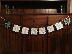 Winter Banner with snowmen snowflakes and shades by SweetJeanPie