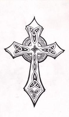 Celtic Cross by Mouse 7 Celtic Patterns, Cross Patterns, Celtic Designs, Celtic Symbols, Celtic Art, Celtic Crosses, Mayan Symbols, Egyptian Symbols, Irish Celtic