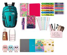 """whats in my backpack ??"" by lindseydykes18 ❤ liked on Polyvore"