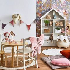 Vintage kids playroom area