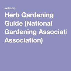 Herb Gardening Guide (National Gardening Association)