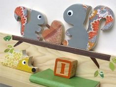 Squirrel Shelf - Gray Parent and Child - eco-friendly - by... | Shop | Kaboodle