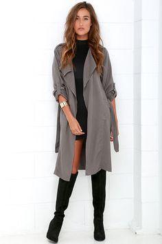 Dark Grey Trench Coat