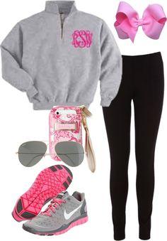 3a0d3f6ea1cf leggings + zip monogram sweatshirt