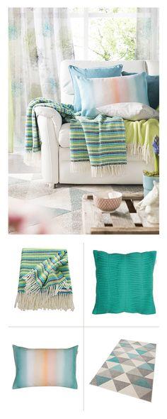 Gemütliche Kissen, Decken, Teppiche & Co. kommen jetzt in erfrischenden Frühlingsfarben daher und zaubern ein leichtes Ambiente in euren Wohnraum.
