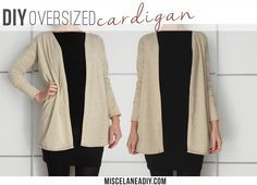 DIY Sewing | Oversized Cardigan