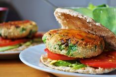 Vegan Burger Series: Butter Bean Kale Burger - Vegan MoFo