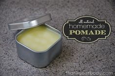 DIY tutorial: All natural homemade pomade.