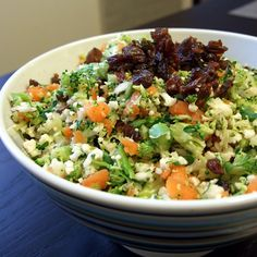 They call this a detox salad, but it really just seems like a salad as a meal (filling and healthy).