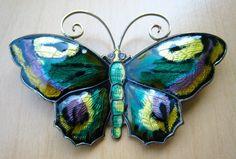 David Andersen Sterling Enamel Butterfly Brooch