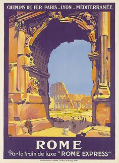 ROGER BRODERS (1883-1953). ROME. 1921. 42x31 inches, 107x78 cm. Cornille & Serre, Paris.