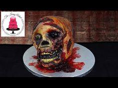 Halloween Walking Dead Zombie Cake- How To