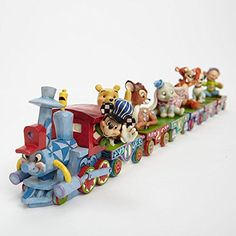 Enesco Jim Shore 4043654 045544719636 Disney Traditions All Aboard the Birthday Train Casey Jr. Train with Mickey Mouse Figurine Mickey Mouse Figurines, Disney Figurines, Happy Birthday Baby, Disney Birthday, 3rd Birthday, Birthday Gifts, Estilo Disney, Disney Home, Walt Disney