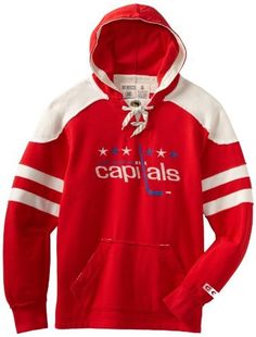NHL Washington Capitals CCM Pullover Hoodie, Large by Reebok. $36.75. Combine your favorite comfortable hoodie and your classic love of old school hockey in this stylish Vintage Pullover Hooded Sweatshirt from CCM Reebok Classics. Features embroidered twill with felt applique team logo on chest, distressed twill and edgestitch, classic wash for retro look and feel, stylish vintage look, skate lace neck detail, front pockets for added warmth, and CCM custom back nec...
