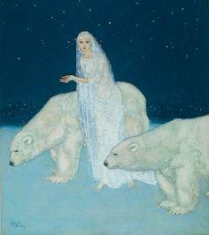 Illustration by Edmund Dulac.