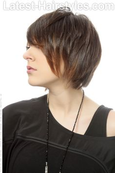 Short Bob with Texture and Movement Side View
