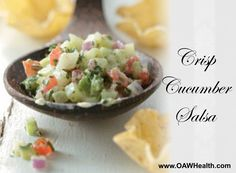 A fantastic cucumber salsa recipe that is loaded with healthy ingredients.