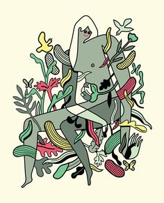 Burro glam by Diego Marmolejo, via Behance