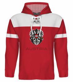 NEW 2015 Austria Hockey World Cup Hoodie NHL Vanek Grabner Raffl Pock Divis Nodl