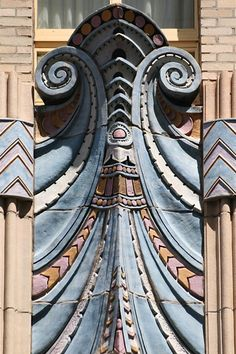 Closeup of the Art Deco details of the Market Street National Bank building (One… Nahaufnahme der Art Deco-Details des Market Street National Bank-Gebäudes (One Penn Square East). Motif Art Deco, Art Deco Pattern, Art Deco Design, Architecture Design, Beautiful Architecture, Art Nouveau, Design Industrial, Estilo Art Deco, Art Deco Stil
