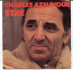 """Charles Aznavour 45 rpm with picture sleeve """"Etre"""""""