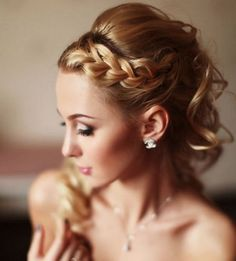Elegant braided wedding hairstyle ideafrom Elstile