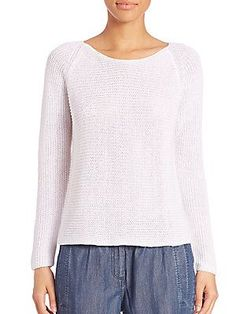 Eileen Fisher Ribbed Linen Top - Daisy - Size S