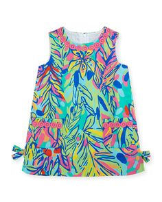 Lilly Pulitzer Little Lilly Printed Classic Shift Dress, Multi Hot Spot, Sizes 2-10