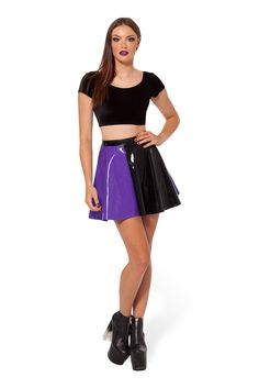 Jester Purple Skater Skirt - LIMITED by Black Milk Clothing $60AUD (removed from Batman release)
