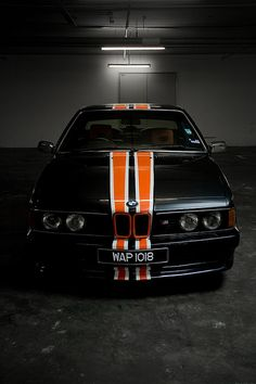 BMW E24 M 635 CSi.  Wow. Perfect.  I'm all about that orange racing stripe.