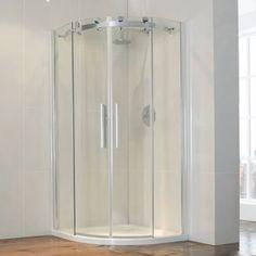 Aquaglass Semi Frameless 1200 x 900 Offset Quadrant Shower Enclosure