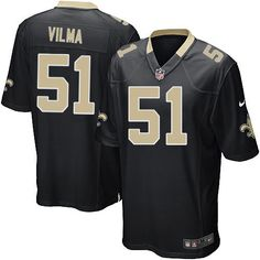Shop for Official NFL  Youth Game Nike New Orleans Saints #51 Jonathan Vilma Team Color Black Jersey Get Same Day Shipping at NFL New Orleans Saints Team Store. Size S, M,L, 2X, 3X, 4X, 5X.$59.99
