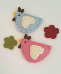 Chick-wool-felt-snap-hair-clip by berry cool designs, $ 6.00