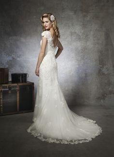 Justin Alexander 8658 Vintage Lace Wedding Dress