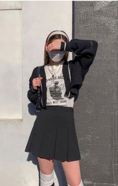 Edgy Outfits, Korean Outfits, Cute Casual Outfits, Pretty Outfits, Fall Outfits, Fashion Outfits, Style Ulzzang, Ulzzang Fashion, Cute Fashion