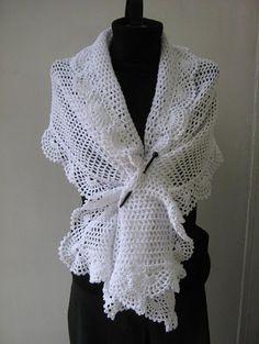 pretty crochet shawl - no pattern, just for inspiration