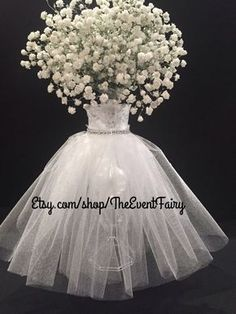 Wedding Vase Couture Centerpiece by theEventFairy on Etsy