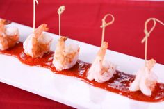 the chew | Recipe | Clinton Kelly's Shrimp Cocktail a simple and easy way to display shrimp. On the show they did two lines of the cocktail sauce.
