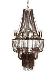 This iron bead chandelier is sure to make people stop and stare. Get it here: http://www.bhg.com/shop/arteriors-home-maxim-7-light-iron-beaded-chandelier-p524cf28ee4b04004948cdfc9.html