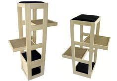 Now this could be easily made no?   Cat Climbing Tower by TrendyCat Design