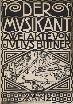 koloman moser | Koloman Moser – Der Musikant -1909 vienna secession