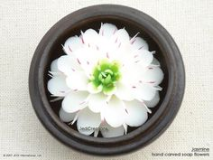 White-green Jasmine Soap Flower
