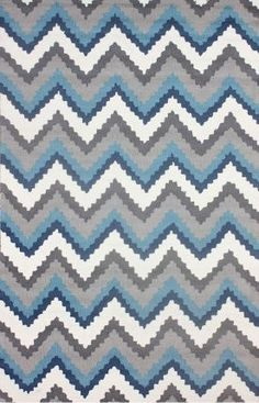 nuLOOM Handmade Modern Jagged Chevron Blue Rug x - Overstock™ Shopping - Great Deals on Nuloom - Rugs Contemporary Rugs, Contemporary Interior, Plush Area Rugs, Blue Chevron, Rugs Usa, Discount Rugs, Modern Area Rugs, Online Home Decor Stores, Textures Patterns