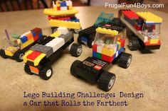 preschoolers, cars | Lego Fun Friday: Build a Car that Rolls the Farthest « Frugal Fun For ...