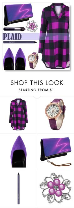 """""""Plaid Dress"""" by simona-altobelli ❤ liked on Polyvore featuring Pierre Hardy, Smashbox, By Terry, StreetStyle, plaid and MyStyle"""